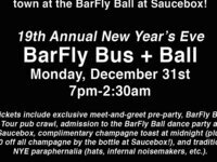 19th Annual New Year's Eve BarFly Bus + Ball