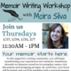 CLASS FULL - Memoir Writing Workshop
