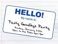 Tasty Goodbye Party