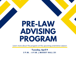Pre-law Advising Orientation