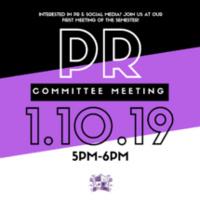 PR Committee Meeting