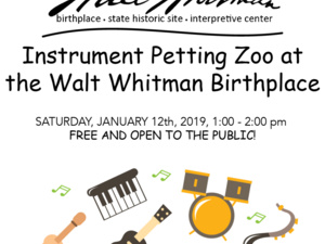 Instrument Petting Zoo at Walt Whitman Birthplace