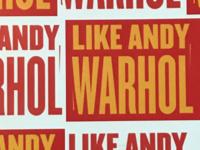Like Andy Warhol Presentation By Jonathan Flatley