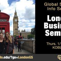 Global Seminar: London Business Seminar - Info Session