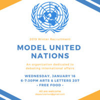 Model United Nations Winter Recruitment