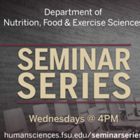 Nutrition, Food & Exercise Sciences: Seminar Series