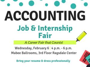 Accounting Job & Internship Fair