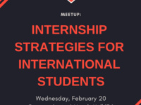 Meetup: Internship Strategies for International Students