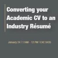 Q&A Session: Converting Your Academic CV to an Industry Resume