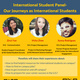 International Student Panel-Our Journeys as International Students