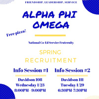 Alpha Phi Omega Information Session #2