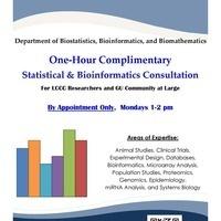FREE BIOSTATISTICS AND BIOINFORMATICS CONSULTATION SERVICES