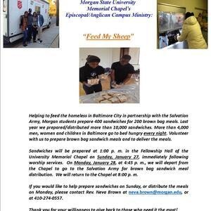 """""""Feed My Sheep"""" Sandwich Preparation for the Homeless"""