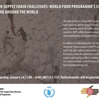 World Food Programme Humanitarian Supply Chain Challenges - Jakob Kern