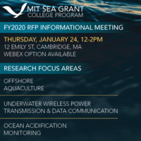 MIT Sea Grant FY2020 Request For Proposals Informational Meeting