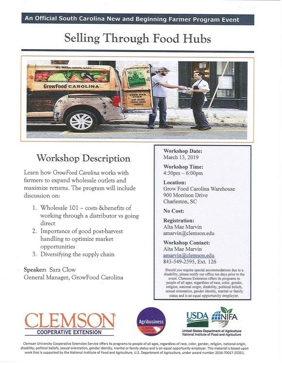 Selling Through Food Hubs Workshop