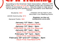 Adult First Aid, AED, CPR Training