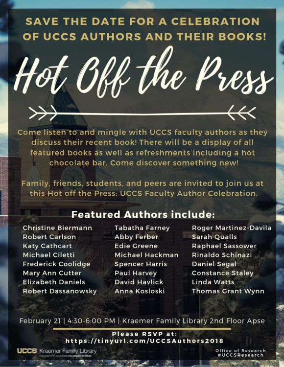Hot off the Press: Faculty Author Celebration