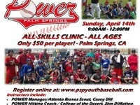 Palm Springs Youth Baseball Clinic