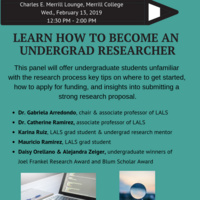 Learn how to Become an Undergrad Researcher