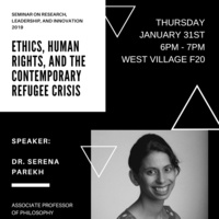 Seminar: Ethics, Human Rights, and the Contemporary Refugee Crisis