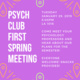 Psych Club First Meeting: Meet your Professors!
