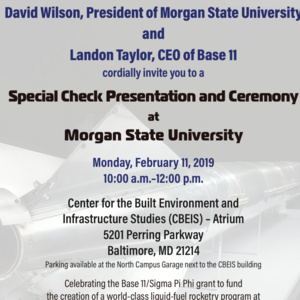 MSU-Base 11 Special Check Presentation and Ceremony