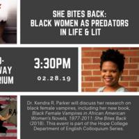 She Bites Back: Black Women As Predators In Life & Lit