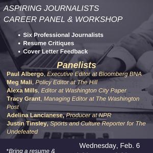 Journalism Career Panel and Workshop - Georgetown