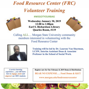 Food Resource Center's Volunteer's Training