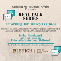 Real Talk Series: Rewriting Our History Textbooks | Multicultural Affairs