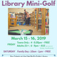 Library Mini Golf for Teens