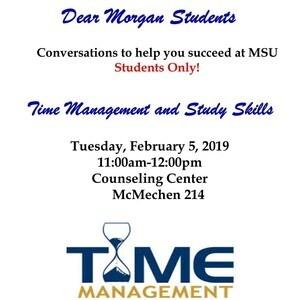 Dear Morgan Students - Time Management