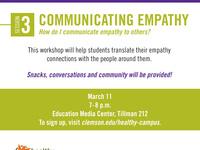 Empathy Workshop Series Session 3: Communicating Empathy