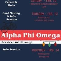 Alpha Phi Omega Recruitment