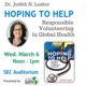 Hoping to Help: Responsible Volunteering in Global Health