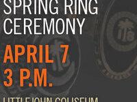 Spring 2019 Ring Ceremony