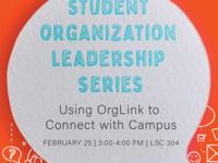 Student Organization Leadership Series
