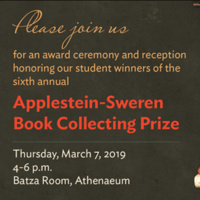 Applestein-Sweren Book Collecting Prize Award Ceremony