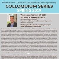 Seminar Series with Dr. Jeffrey Rimer | Chemical and Biomolecular Engineering