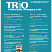 TRIO Learning and Developing Week