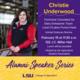 Alumni Speaker Series: Christie Underwood