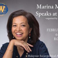 Marina Mahathir Speaks at Webster Leiden Campus