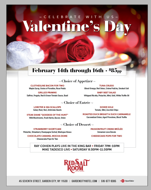 Celebrate with us Valentine's Day