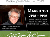 Performance in Poetry: Walking With Whitman featuring Craig Czury with Lois Walker