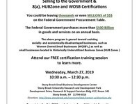 Selling to the Government and 8(a), HUBZone and WOSB Certifications