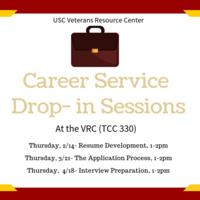 Career Service Drop- in Sessions