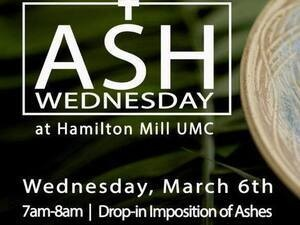 Ash Wednesday at Hamilton Mill UMC