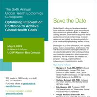 6th Annual Global Health Economics Colloquium