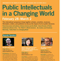 Public Intellectuals in a Changing World: The 'World' in World Literature